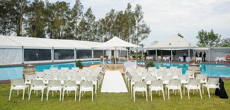 Cypress Lakes Resort Hunter Valley wedding outdoors lagoon