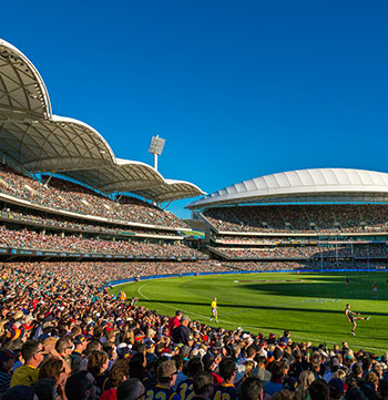 afl game at Adelaide Oval