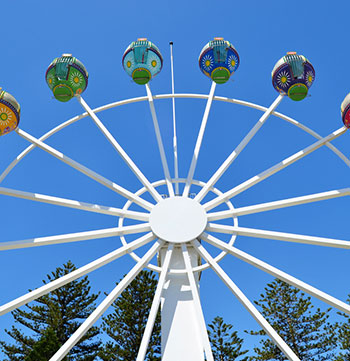 beachouse glenelg ferris wheel